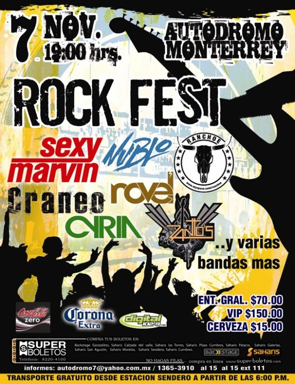POSTER ROCK FEST DEFINITIVO